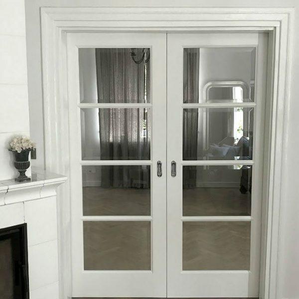 drzwi chowane w ścianę drzwi podwójne drzwi ze szprosami