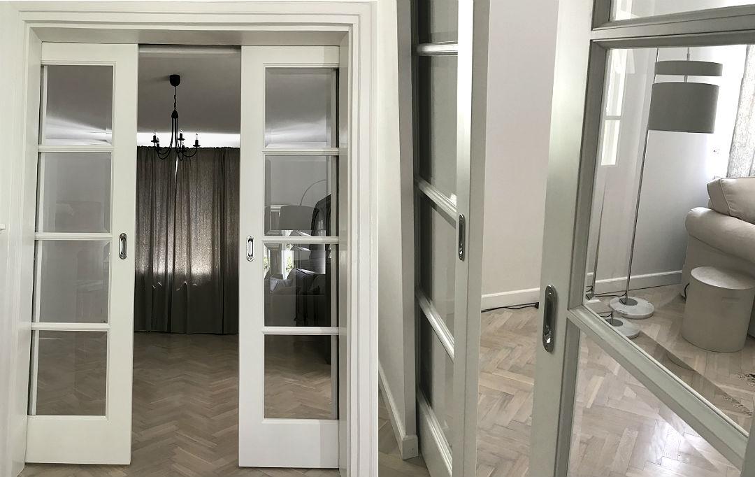 drzwi wsuwane fazowane szyby