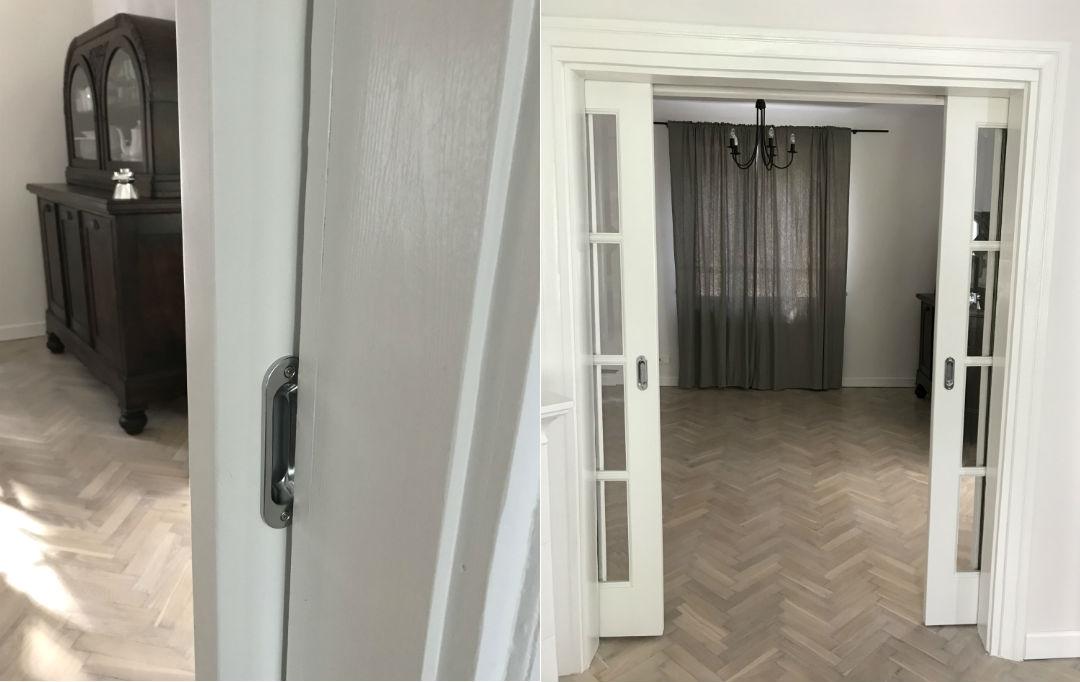 drzwi w ścianie, oryginalna opaska drzwiowa