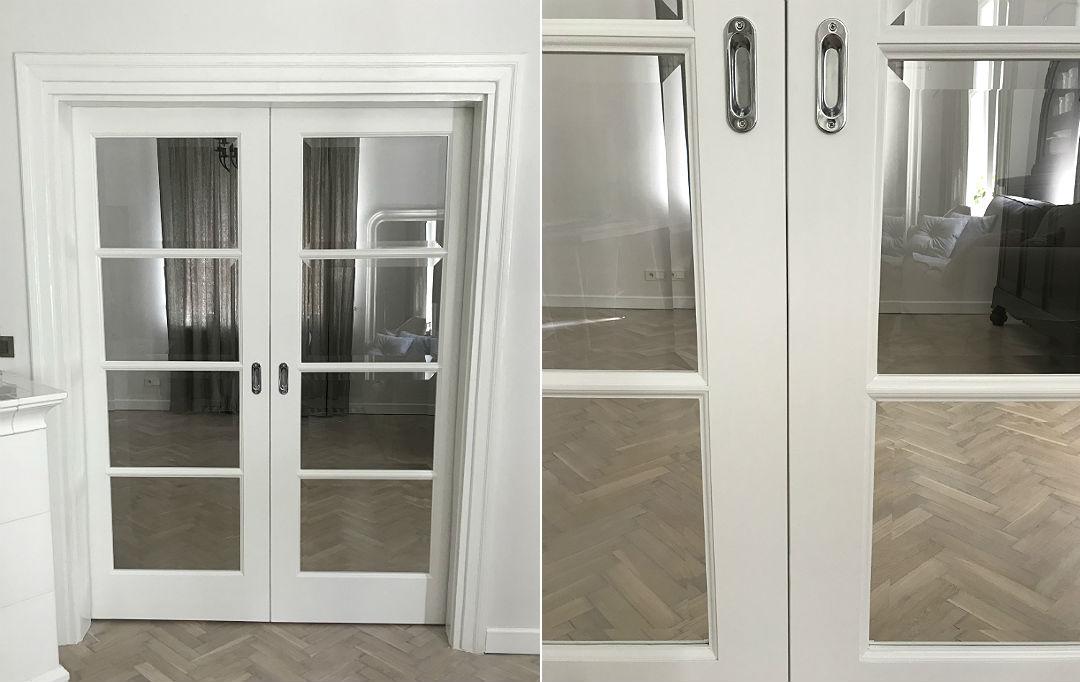 drzwi podwójne, oryginalna opaska drzwiowa