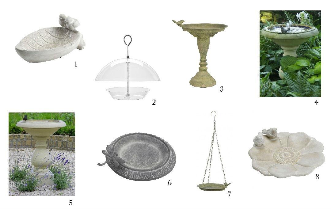 wodopoje dla ptaków dekoracje w ogrodzie
