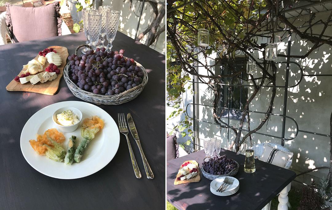 jedzenie w ogrodzie smażone kwiaty cukinii