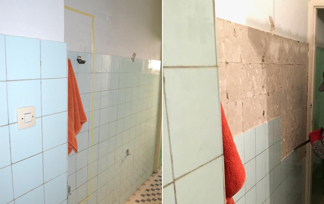 remont łazienki skuwanie płytek