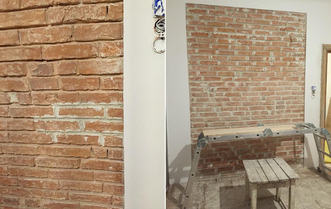 nowa fuga do starej cegły kładzenie fugi