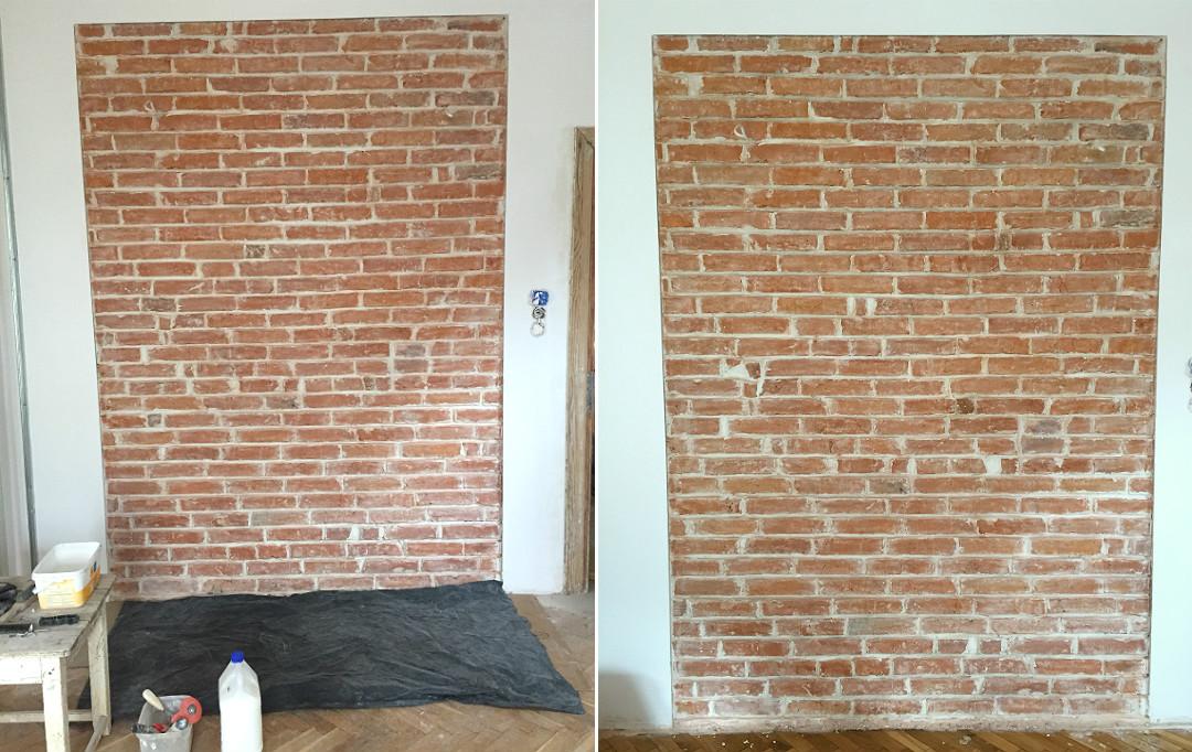 gruntowanie starej odkrytej cegły