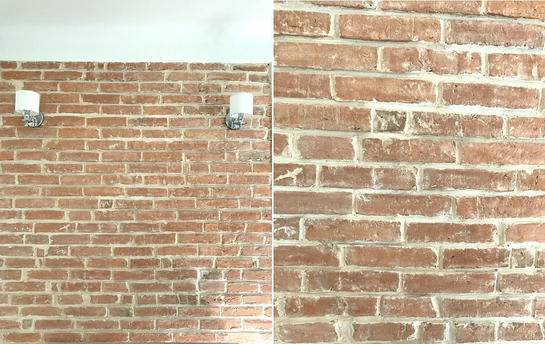 stara przedwojenna cegła, ściana z cegły