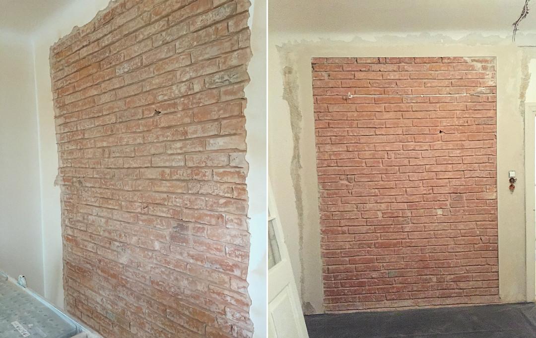 obróbka łączenia cegły ze ścianą