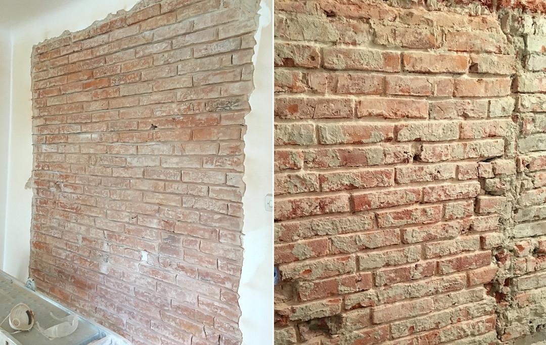 wykuwanie starej fugi z cegły
