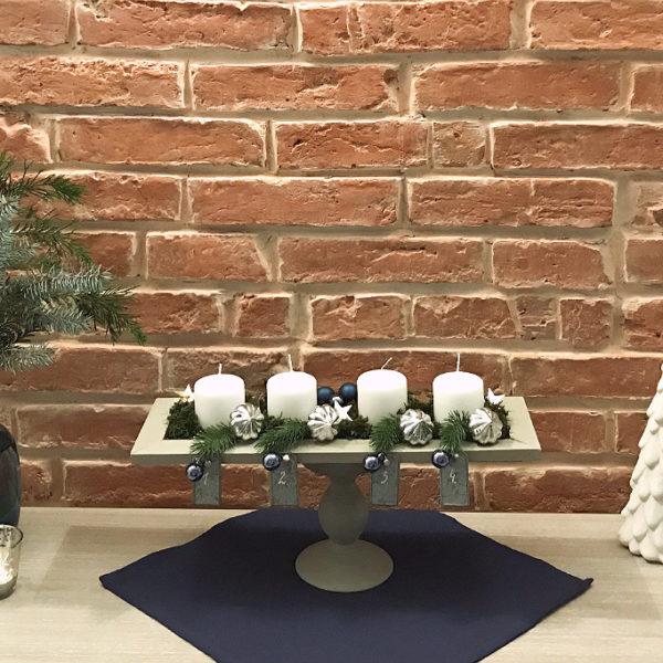 wieniec adwentowy stroik dekoracje świąteczne Adwent 2018