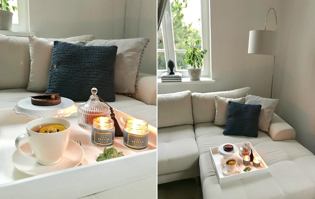 taca z podwieczorkiem salon w stylu francuskim przedwojenny dom