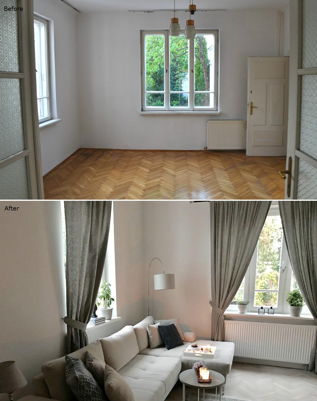metamorfoza salonu w starym domu zestawienie B&A