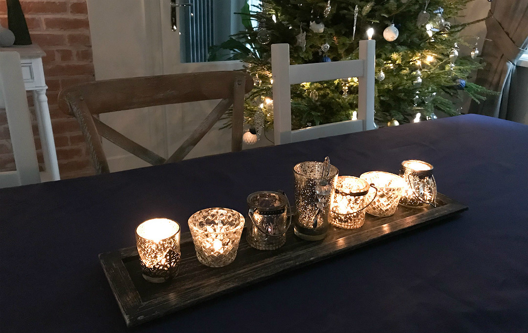 świeczniki mercury glass światełka migoczące