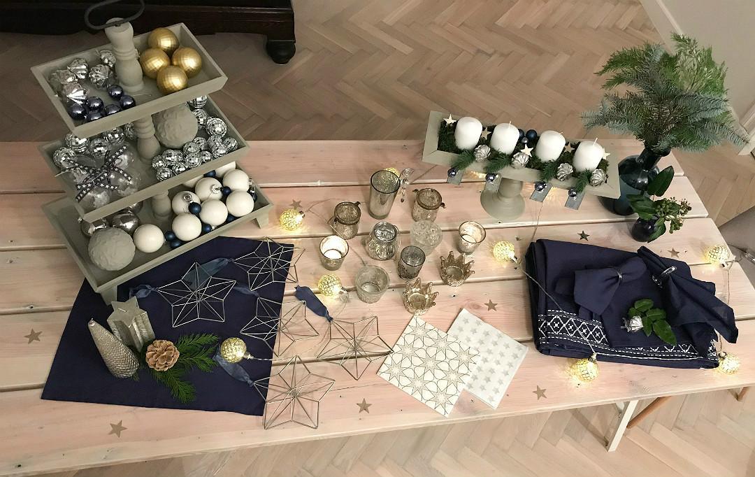 naszykuj na święta, stare ozdoby na nowo, w granacie, Boże narodzenie, świątecznie