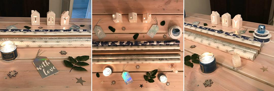 mix materiały do pakowania prezentów papiery wstążki karneciki