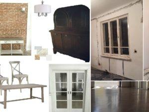 jadalnia stan i wizja po zakupie moodboard stary dom