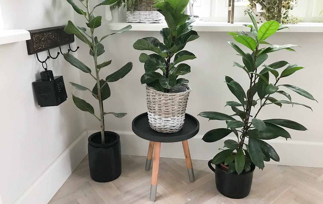 stojak na kwiaty własnoręcznie zrobiony przerobiony