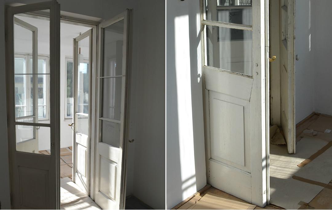 renowacja drzwi na werandę drzwi drewniane podwójne