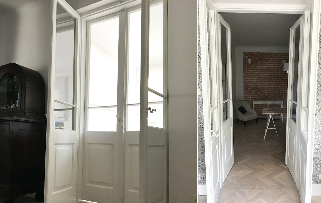 stolarka drzwiowa stara w starym domu odnowione drzwi