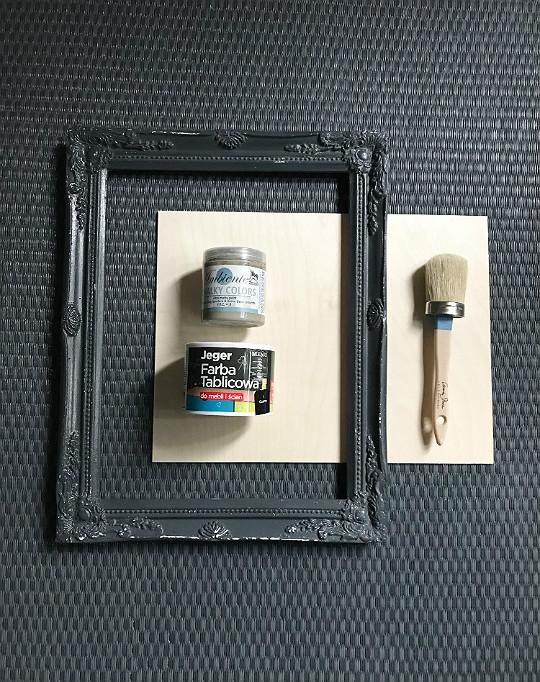 co zrobić ze starej ramy tablicówka sklejka farby kredowe