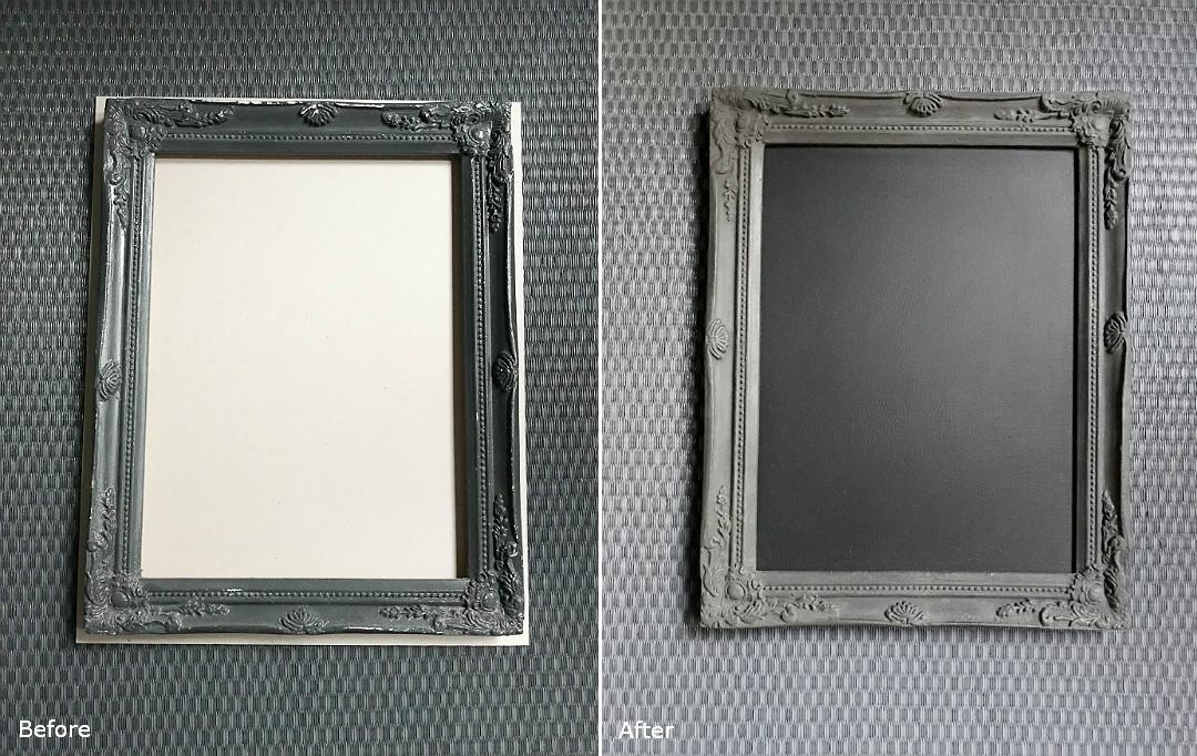 metamorfoza DIY zrób to sam stara rama tablica kredowa ze starej ramy