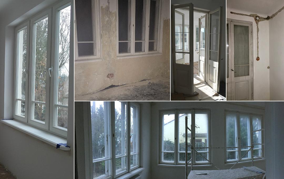 remont starego domu generalny weranda trójdzielne okna