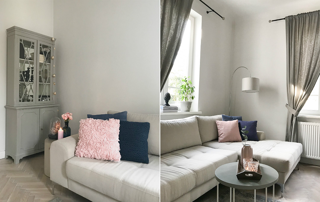 różowe dekoracje w salonie wiosenne witryna w stylu nowojorskim