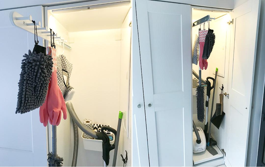 domowe przydasie do sprzątania gdzie trzymać odkurzacz mopa w domu