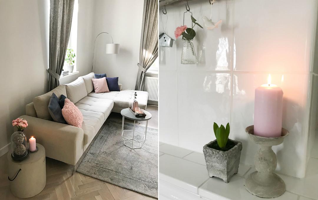 udekoruj dom salon na wiosnę ozdoby dekoracje wiosenne