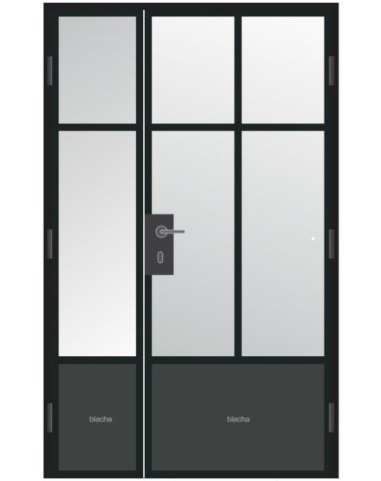 projekt drzwi w stylu loft industrialnym
