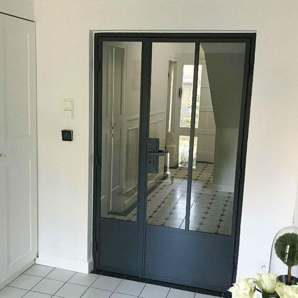 drzwi stalowo-szklane, drzwi w stylu loft, industrialne fabryczne przemysłowe