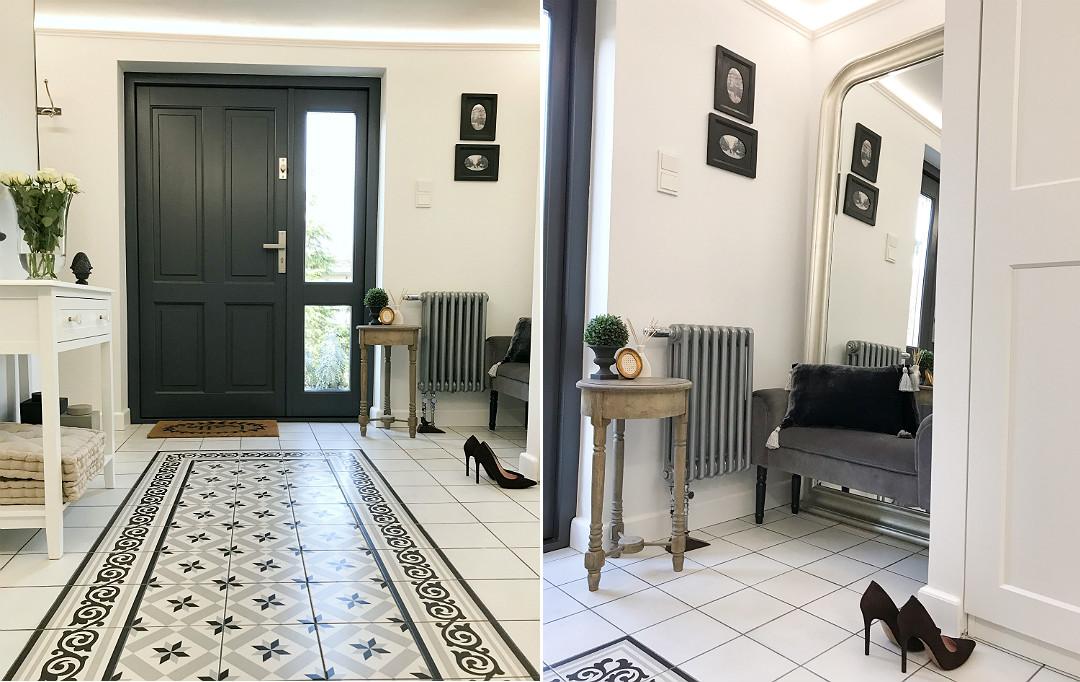 elegancki hol wejściowy wizytówka domu strefa wejścia hol przedpokój ganek wiatrołap
