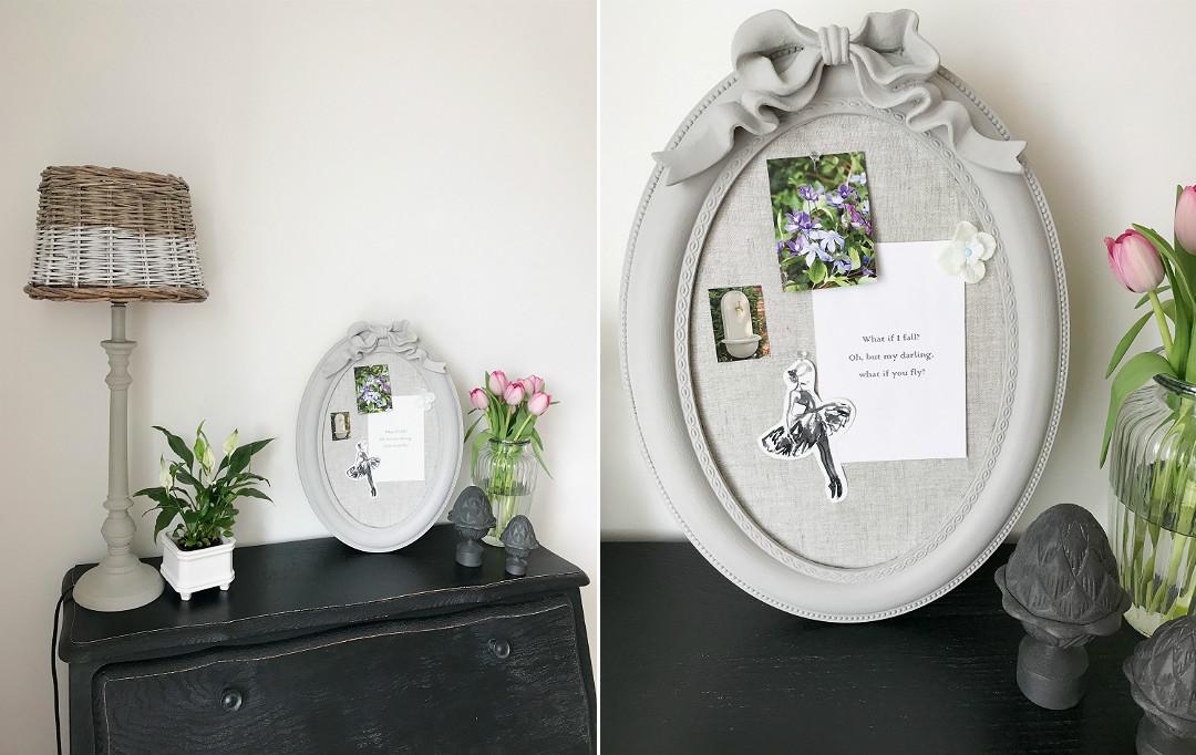 stara rama paris grey annie sloan zrób to sam przeróbki dekoracje do domu w stylu francuskim