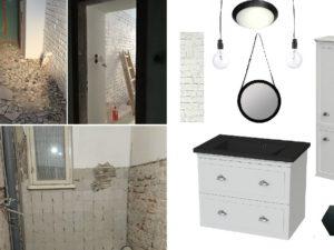 dolna łazienka stan i wizja po zakupie moodboard stary dom