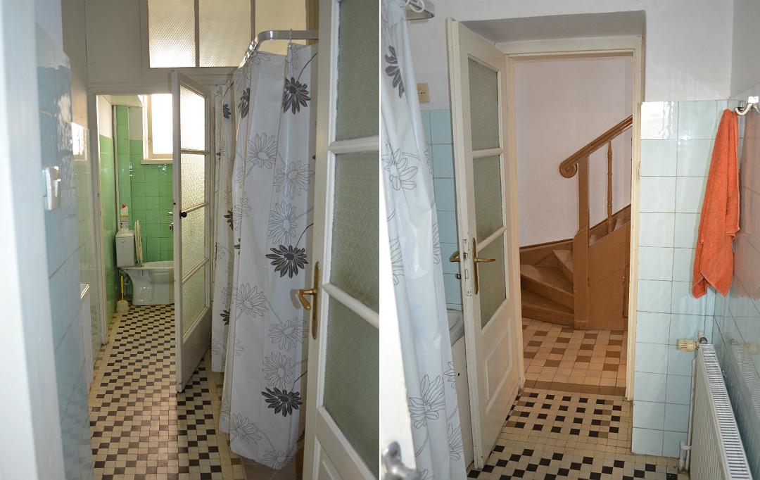 łazienka dolna stan po zakupie przed remontem