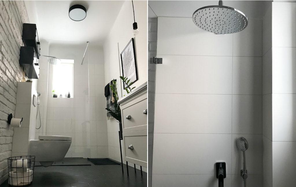 deszczownica tres loft łazienka w stylu loft industrialnym
