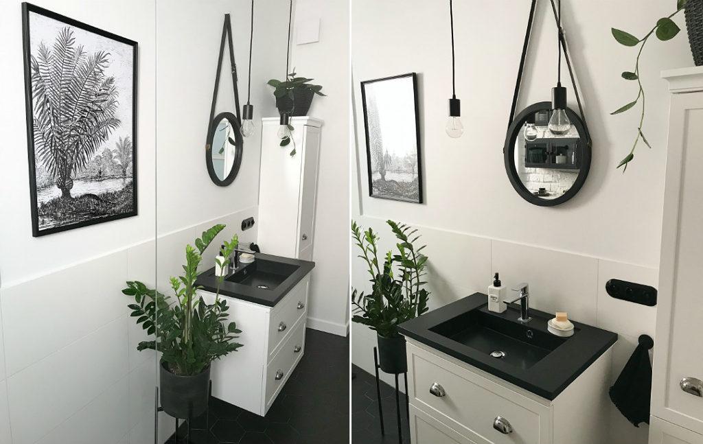szafki canto coram grafitowa umywalka do łazienki w łazience