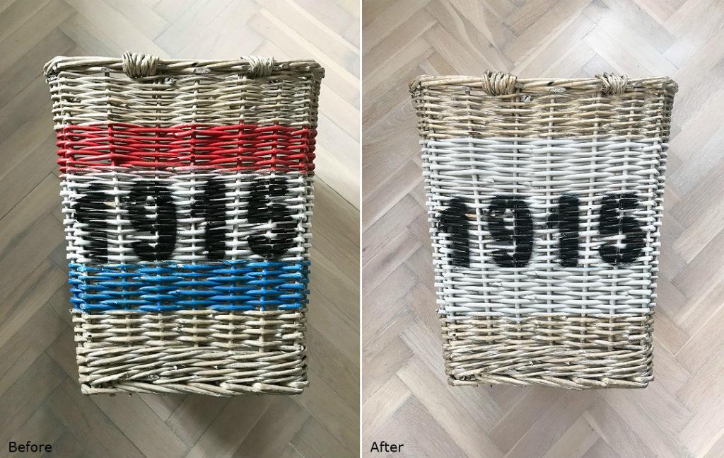 przeróbki DIY before&after przed i po kosz koszyk z wikliny wiklinowy