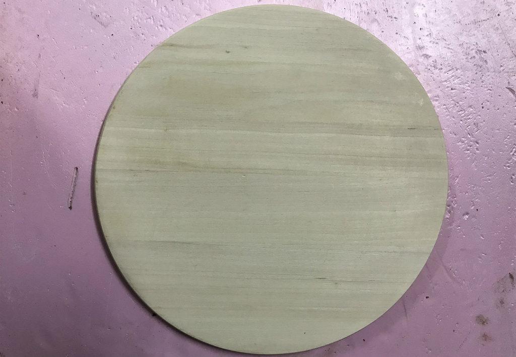 taca blat drewniany okrągły szczotkowany