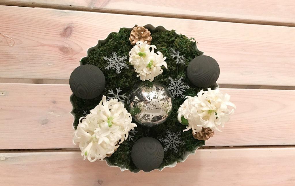 stroik dekoracja bożonarodzeniowa na stół szybka