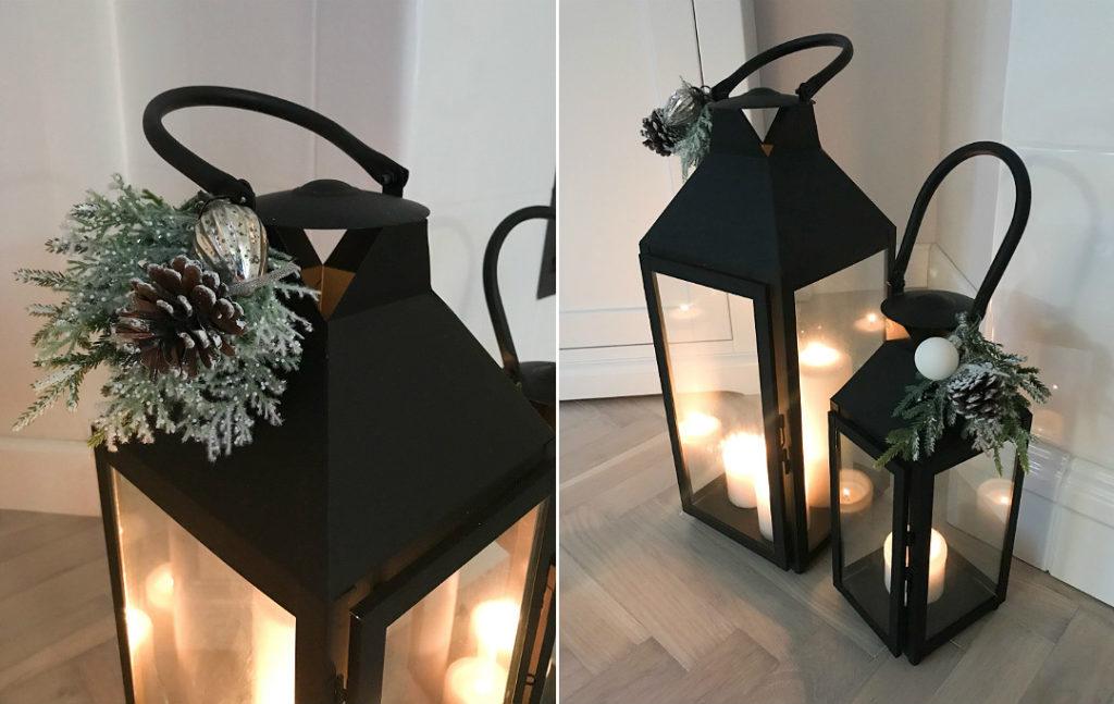 dekoracje świąteczne bożonarodzeniowy lampion