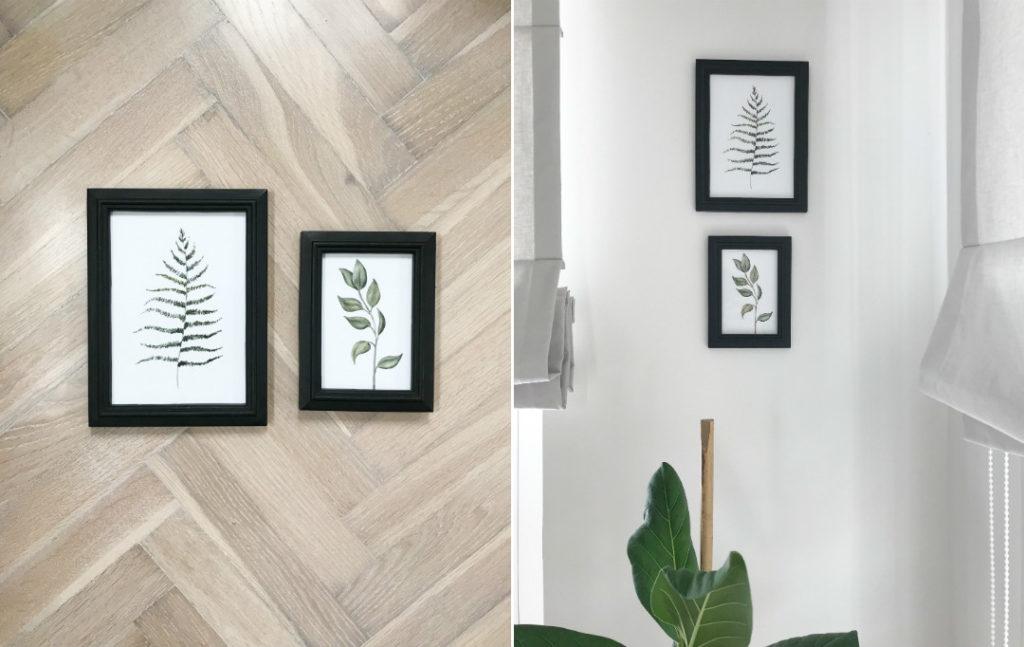 ryciny roślinne plakaty ramki czym ozdobić ściany motywy roślinne