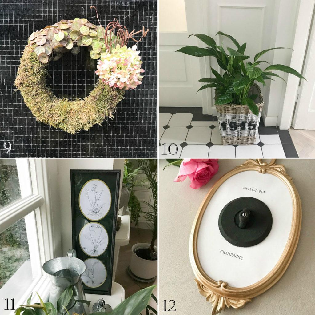 ulubione małeDIY podsumowanie projektu konkurs DIY zrób to sam jesienny wianek kosz w stylu RM botaniczna ramka przycisk press for champagne