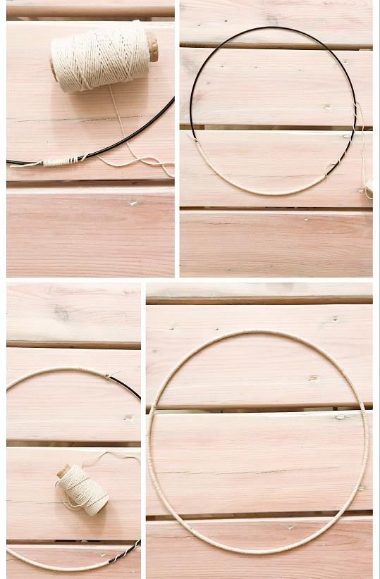 metalowa obręcz, baza do wianka, metalowe koło, kółko