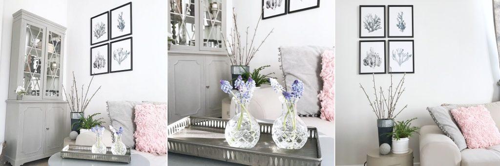 szafirki, wielkanocne dekoracje, wiosenne dekoracje, jak udekorować dom na wielkanoc, wiosna w domu