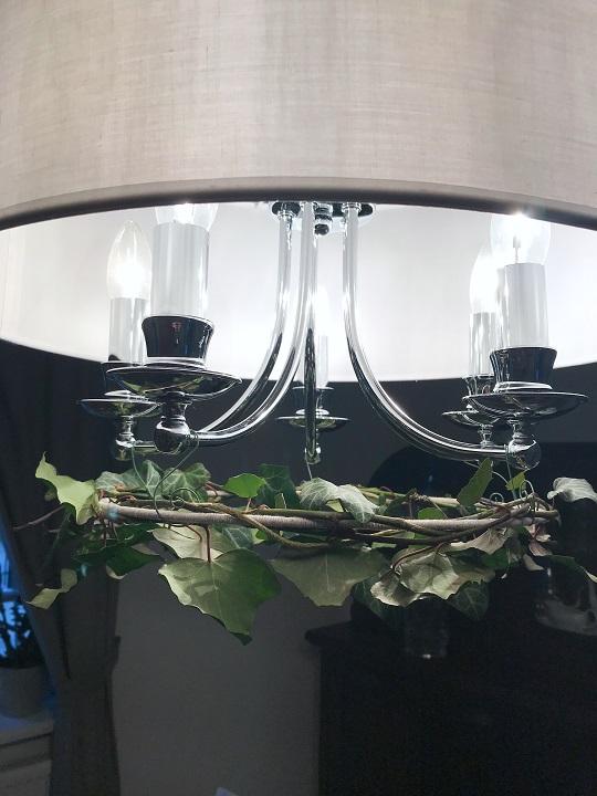 bluszcz, wianek pod żyrandol, wianek nad stół, DIY