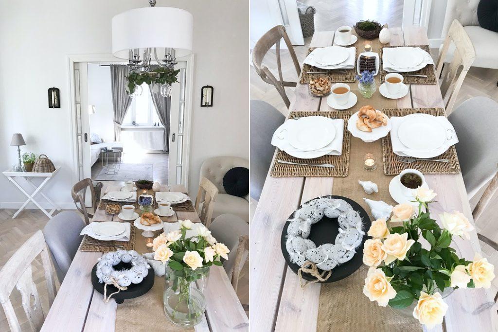 wielkanocny stół, wielkanocny stół dekoracje, wielkanocne ozdoby, jak udekorować stół wielkanocny, jak powinien wyglądać stół wielkanocny, jak zrobić stroik wielkanocny na stół, jak ozdobić stół wielkanocny