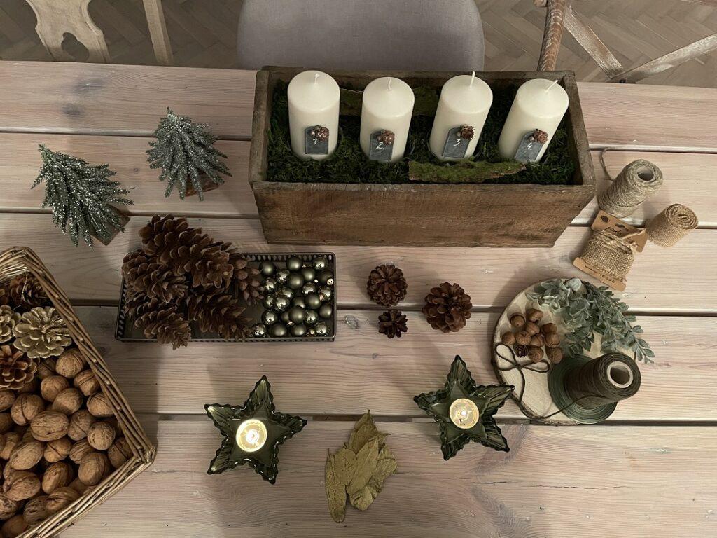 adwent 2020, stroik adwentowy diy, jak zrobić stroik świąteczny, stroik świąteczny, stroik adwentowy na drewnie