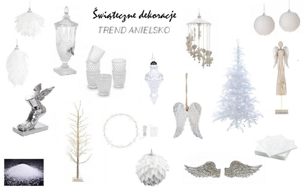 ozdoby choinkowe trendy 2020, jak udekorować dom na święta, świąteczne dekorowanie, dom gotowy na święta, anielskie dekoracje, ozdoby, bombki, skrzydła, sielsko-anielsko
